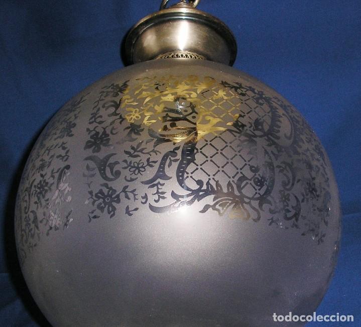 Vintage: Lampara farol con gran globo. - Foto 5 - 140048578