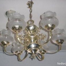 Vintage: LAMPARA DE TECHO CON 6 BRAZOS.AÑOS 70.. Lote 140049066
