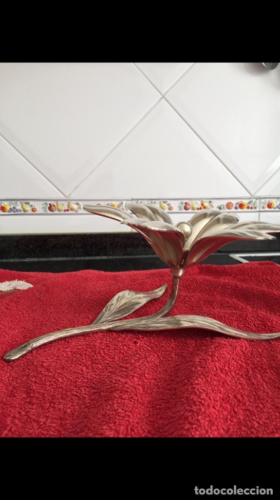Vintage: Flor desmontable de Alpaca - Foto 3 - 140480006
