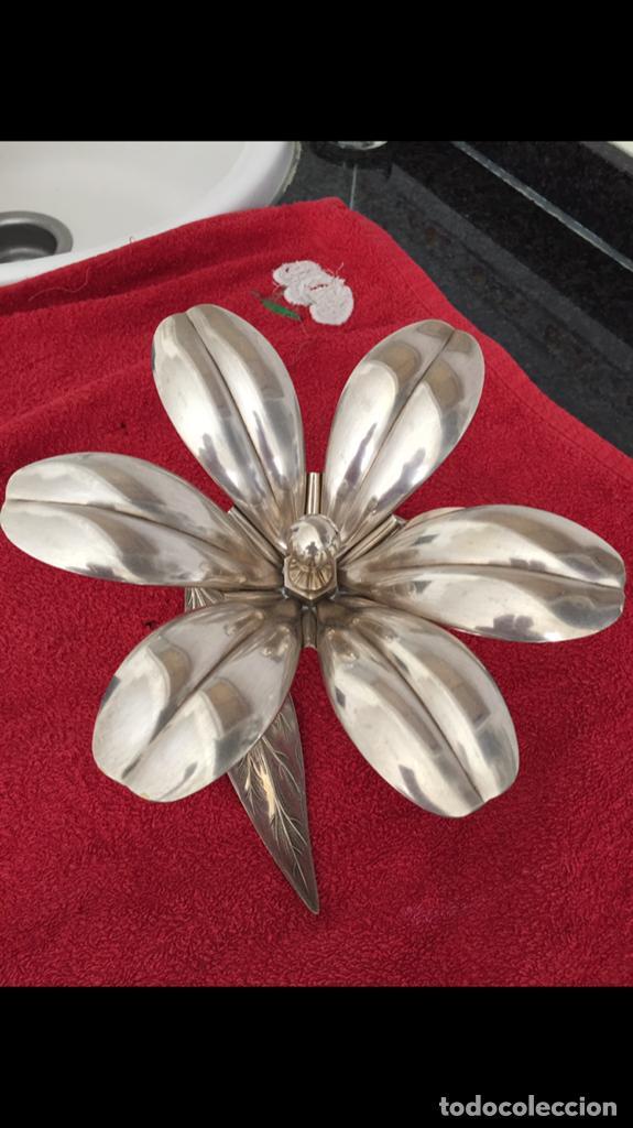 Vintage: Flor desmontable de Alpaca - Foto 4 - 140480006