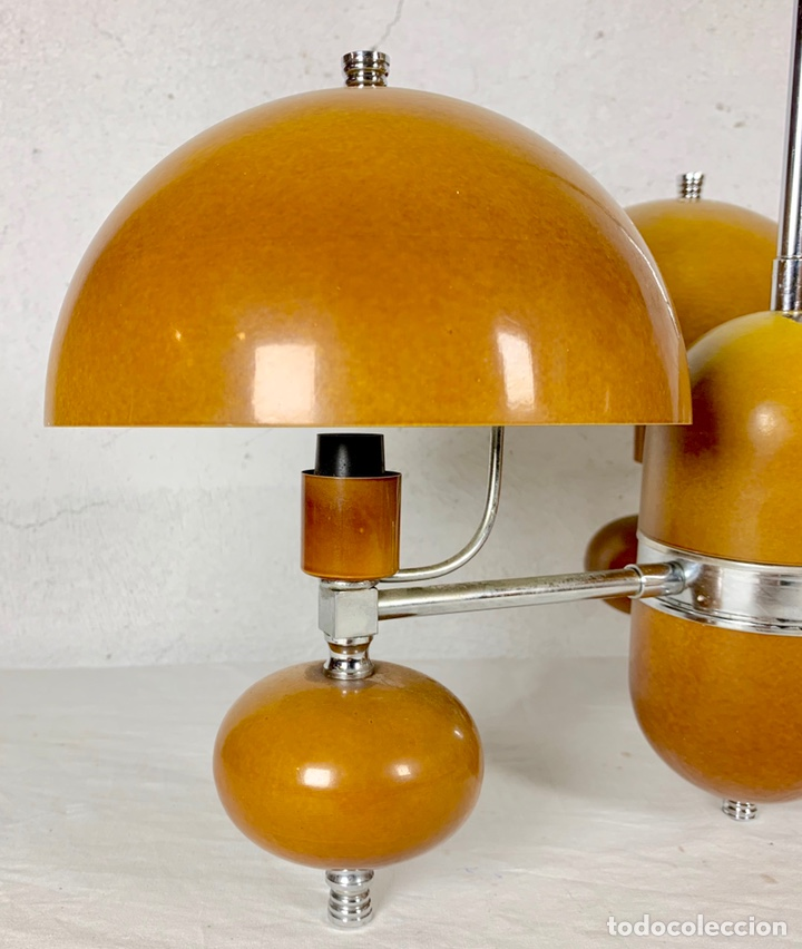 Vintage: Lámpara de techo vintage diseño retro tipo champiñón, años 60-70 - Foto 3 - 140867304