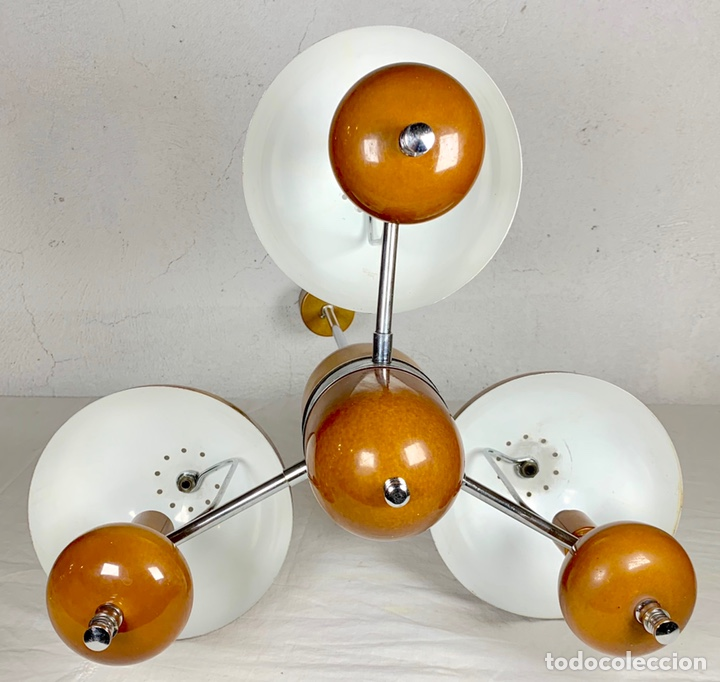 Vintage: Lámpara de techo vintage diseño retro tipo champiñón, años 60-70 - Foto 4 - 140867304