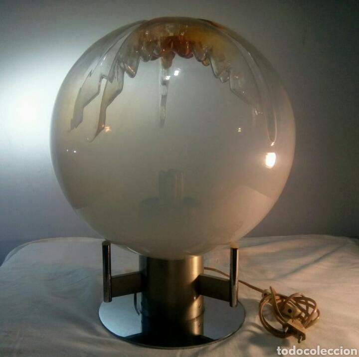 Vintage: Lampara de sobremesa space age sputnik años 60/70 - Foto 2 - 140936153