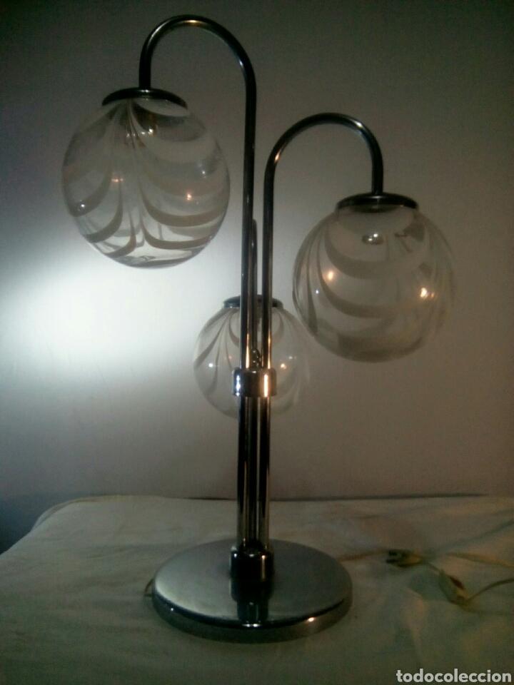 LAMPARA DE SOBREMESA SPUTNIK SPACE AGE AÑOS 60/70 (Vintage - Lámparas, Apliques, Candelabros y Faroles)