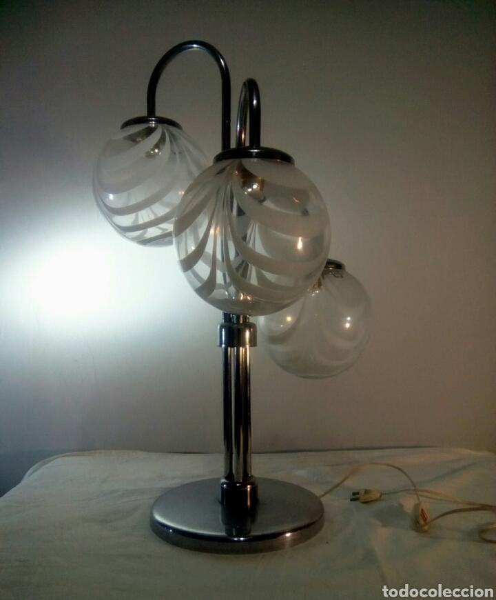 Vintage: Lampara de sobremesa sputnik space age años 60/70 - Foto 2 - 140936840