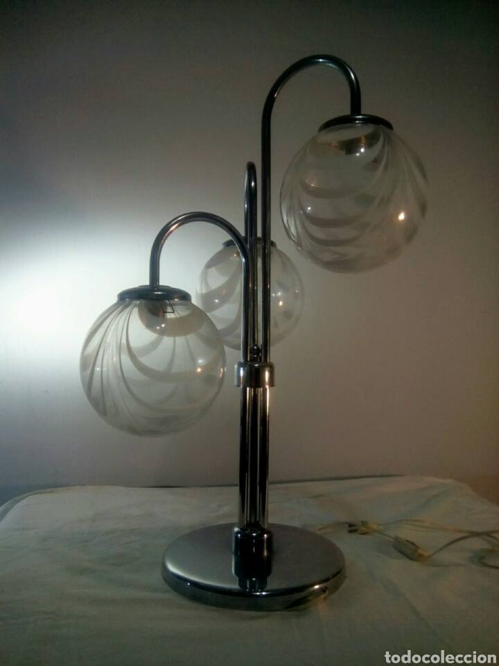 Vintage: Lampara de sobremesa sputnik space age años 60/70 - Foto 3 - 140936840
