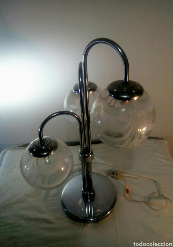 Vintage: Lampara de sobremesa sputnik space age años 60/70 - Foto 4 - 140936840