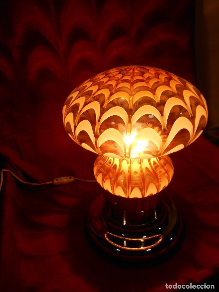 EXTRAORDINARIA LAMPARA VINTAGE MURANO MAZZEGA - AÑOS 60 - ORIGINAL Y FUNCIONANDO - (Vintage - Lámparas, Apliques, Candelabros y Faroles)