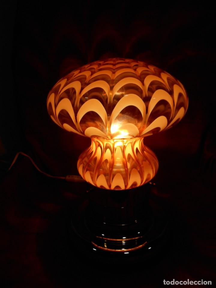 Vintage: EXTRAORDINARIA LAMPARA VINTAGE MURANO MAZZEGA - AÑOS 60 - ORIGINAL Y FUNCIONANDO - - Foto 3 - 141235114