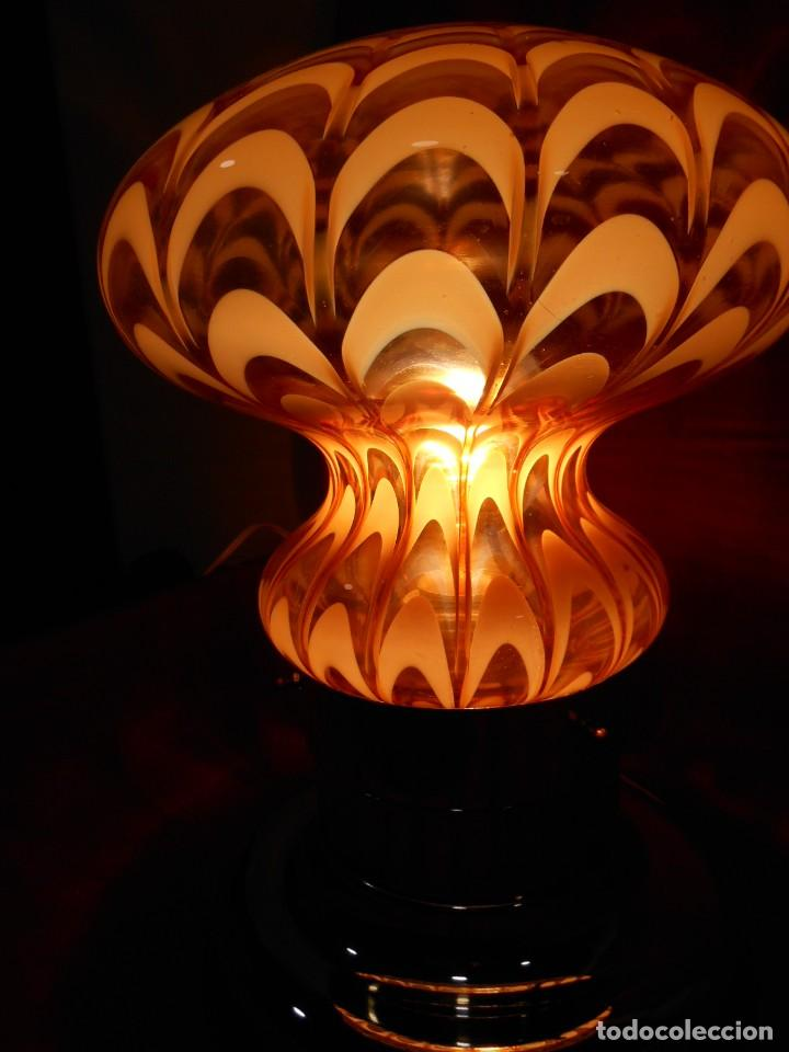 Vintage: EXTRAORDINARIA LAMPARA VINTAGE MURANO MAZZEGA - AÑOS 60 - ORIGINAL Y FUNCIONANDO - - Foto 7 - 141235114