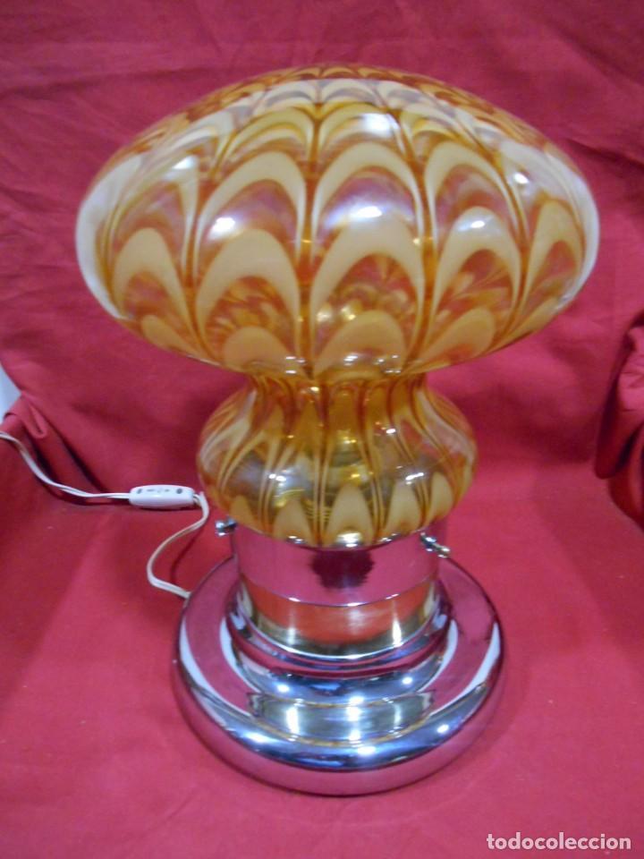 Vintage: EXTRAORDINARIA LAMPARA VINTAGE MURANO MAZZEGA - AÑOS 60 - ORIGINAL Y FUNCIONANDO - - Foto 9 - 141235114