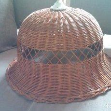 Vintage: PRECIOSA LAMPARA MIMBRE. Lote 141274566