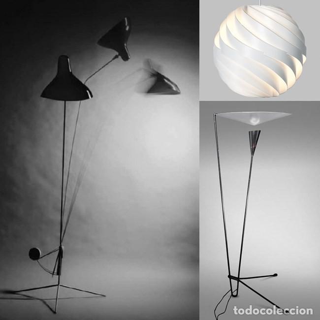 Vintage: Lámpara vintage años 50 Francia Guariche Mouille Boris Lacroix Michel Buffet Lunel - Foto 25 - 141587558
