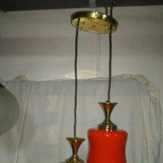 Vintage: LAMPARA VINTAGE DOS FOCOS. Lote 142270772