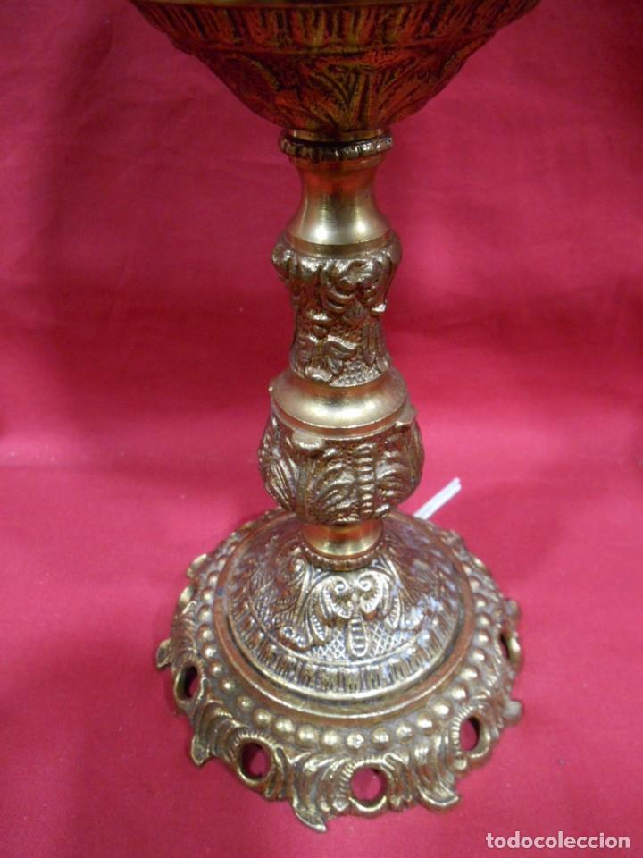 Vintage: LAMPARA APLIQUE DE BRONCE Y GLOBO DE CRISTAL - Foto 3 - 142770438