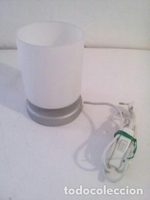 Vintage: lampara sobremesa pantalla cristal glaceado - Foto 2 - 143075070