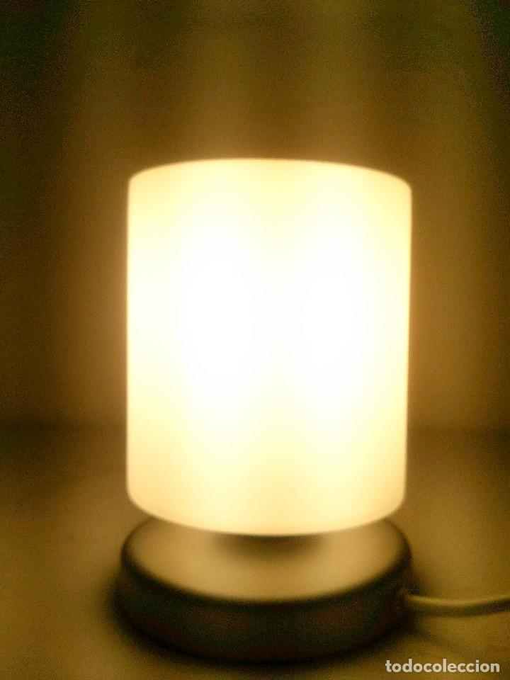 Vintage: lampara sobremesa pantalla cristal glaceado - Foto 4 - 143075070
