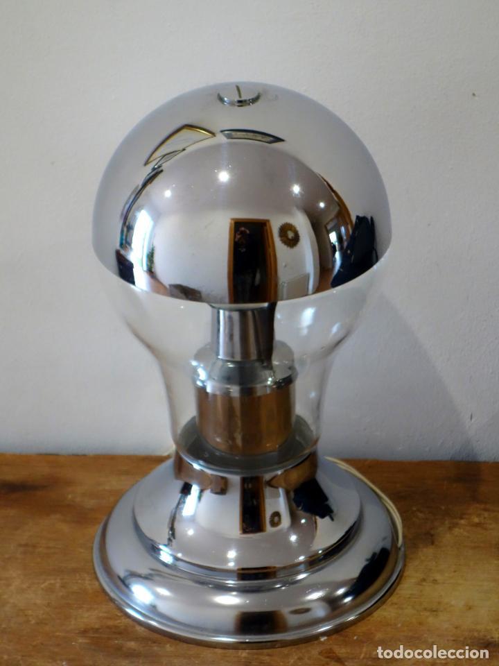 Vintage: Lámpara de mesa vintage cromada estilo space age años 60 - Foto 2 - 143792786