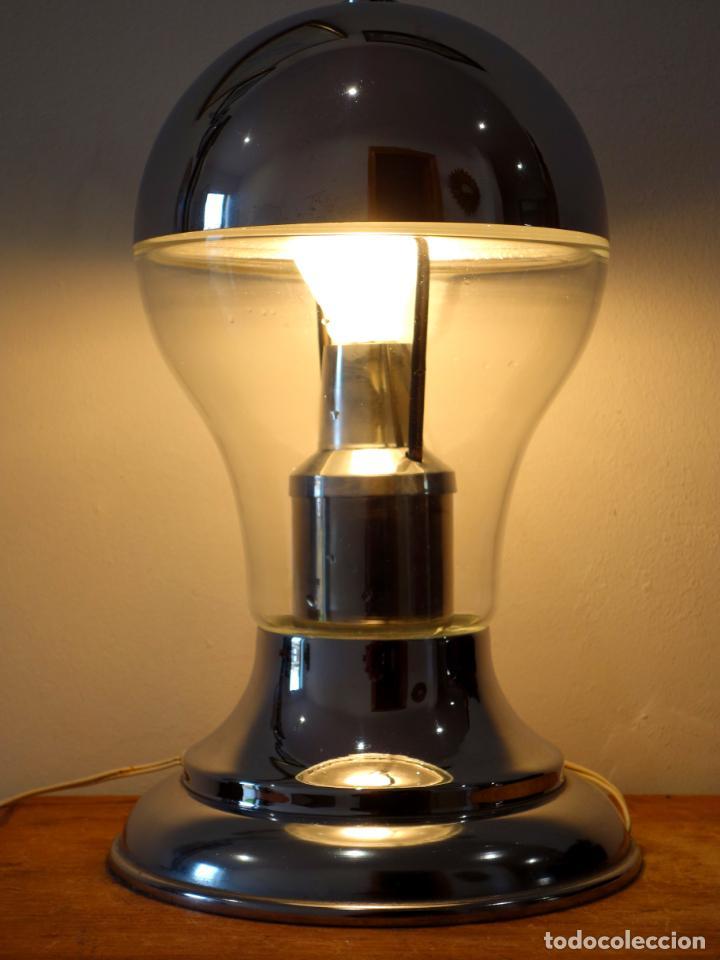 Vintage: Lámpara de mesa vintage cromada estilo space age años 60 - Foto 3 - 143792786