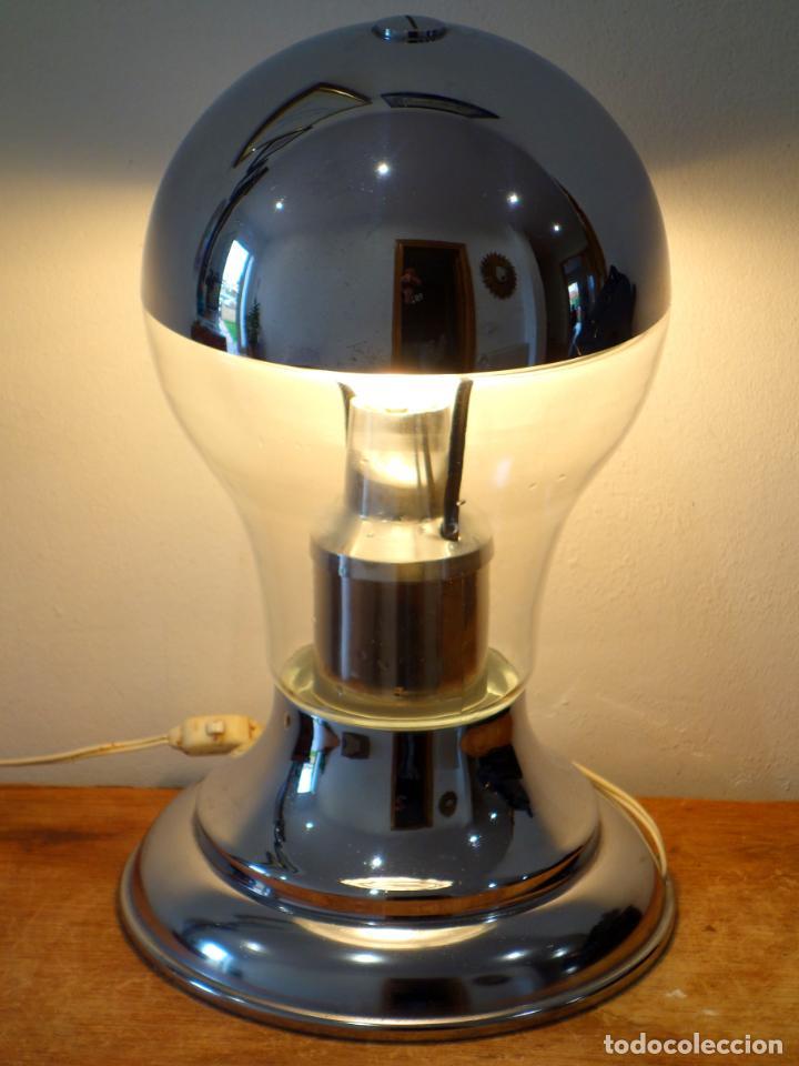Vintage: Lámpara de mesa vintage cromada estilo space age años 60 - Foto 4 - 143792786