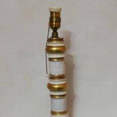 Vintage: ELEGANTE LAMPARA DE MESA DE CERAMICA MANISES COLOR ORO ORIGINAL HISPANIA VINTAGE AÑOS 70. Lote 144029188