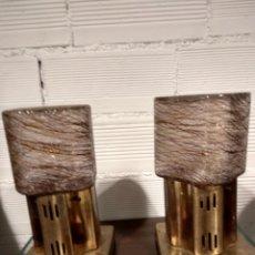 Vintage: PAREJA LAMPARA MESA AÑOS 80. Lote 144255185