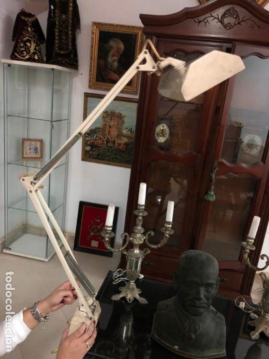 GRAN LAMPARA FLEXO DE MESA AÑOS 60/70 - MEDIDA 110X47 CM - VINTAGE (Vintage - Lámparas, Apliques, Candelabros y Faroles)