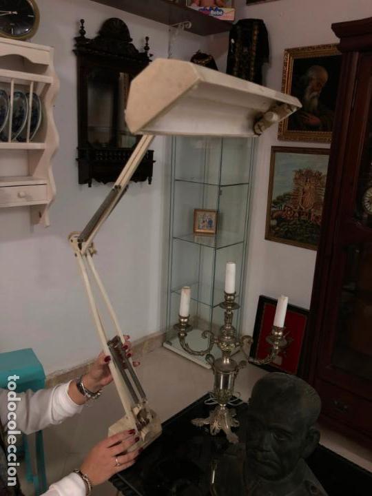 Vintage: GRAN LAMPARA FLEXO DE MESA AÑOS 60/70 - MEDIDA 110X47 CM - VINTAGE - Foto 2 - 144902366