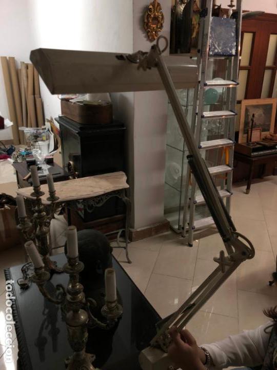 Vintage: GRAN LAMPARA FLEXO DE MESA AÑOS 60/70 - MEDIDA 110X47 CM - VINTAGE - Foto 12 - 144902366