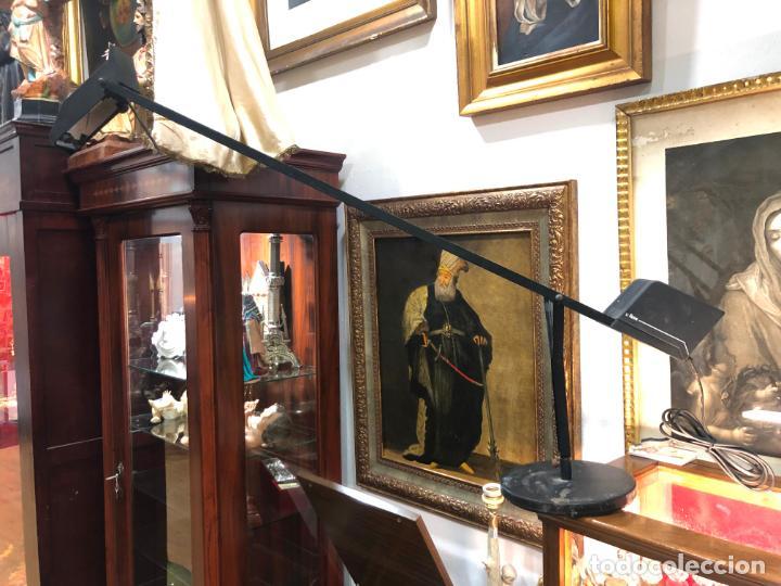 ANTIGUA LAMPARA FASE DE ESTUDIO CON CONTRAPESO - MEDIDA TOTAL ABIERTA 1M. - VINTAGE (Vintage - Lámparas, Apliques, Candelabros y Faroles)