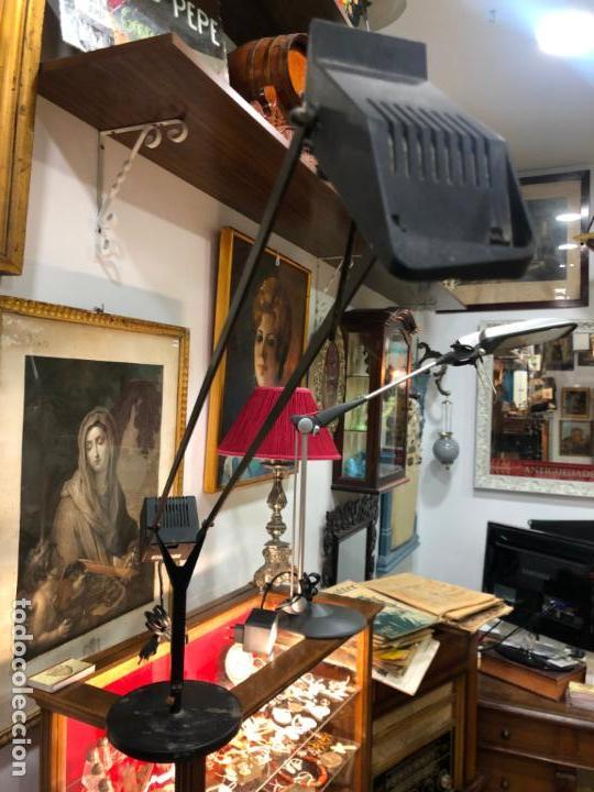 Vintage: ANTIGUA LAMPARA FASE DE ESTUDIO CON CONTRAPESO - MEDIDA TOTAL ABIERTA 1M. - VINTAGE - Foto 10 - 145331642