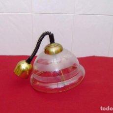 Vintage: LAMPARA DE TECHO SUBE Y BAJA.CRISTAL Y METAL.. Lote 145847458