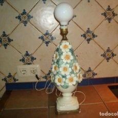 Vintage: LAMPARA DE MANISES MARGARITAS RARA 46 CM SIN LA BOMBILLA. Lote 146156654