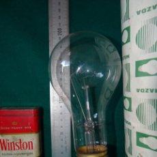 Vintage: BOMBILLA MAZDA INDUSTRIAL. 220 V. 300 W. ROSCA E40. SIN USAR. CON FUNDA.. Lote 146605414