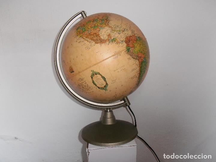 BOLA MUNDO GLOBO TERRAQUEO NOVA RICO LAMPARA (Vintage - Lámparas, Apliques, Candelabros y Faroles)