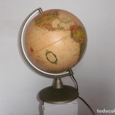 Vintage: BOLA MUNDO GLOBO TERRAQUEO NOVA RICO LAMPARA. Lote 147049634