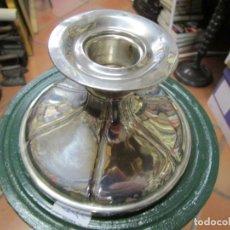 Vintage: CANDELABRO DE SOBREMESA, PORTA VELAS EN PLATA CONTRASTADA - LIMPIO 13.5CM DIAMETRO BASE + INFO 1S. Lote 147237726