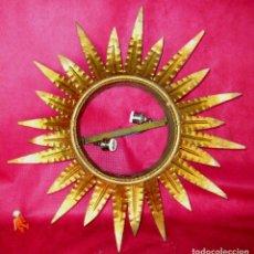 Vintage: LAMPARA HIERRO VINTAGE HOJAS TIPO SOL AÑOS 60 MIDCENTURY. Lote 149268366