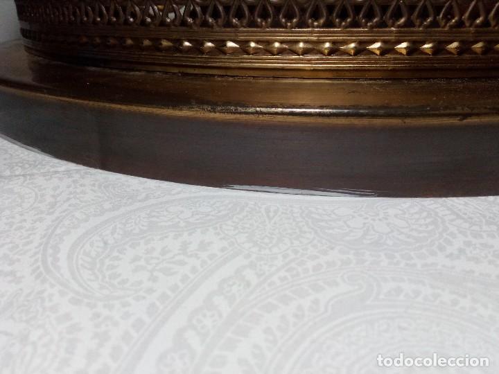 Vintage: PLAFÓN LÁMPARA VINTAGE DORADO DE HIERRO Y CRISTAL CON FLORES AÑOS 60 (40 CM DE DIÁMETRO) - Foto 13 - 149403970