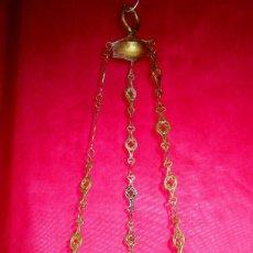 Vintage: LAMPARA VOTIVA NEO GOTICA EN BRONCE ANTIGUA ORIGINAL. Lote 149600346