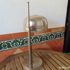 Vintage: ANTIGUA LAMPARA DE SOBREMESA REGULABLE EN ALTURA CROMADA RESTAURAR. Lote 149839670
