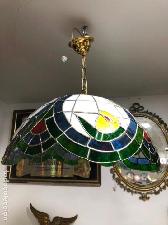 PRECIOSA LAMPARA REALIZADA EN CRISTAL CON MEDIDAS 40X40 CM - VINTAGE (Vintage - Lámparas, Apliques, Candelabros y Faroles)