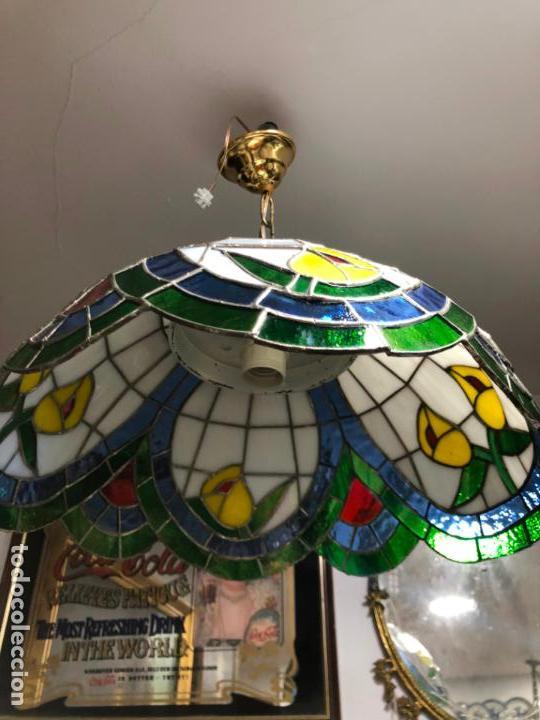 Vintage: PRECIOSA LAMPARA REALIZADA EN CRISTAL CON MEDIDAS 40X40 CM - VINTAGE - Foto 2 - 149991414