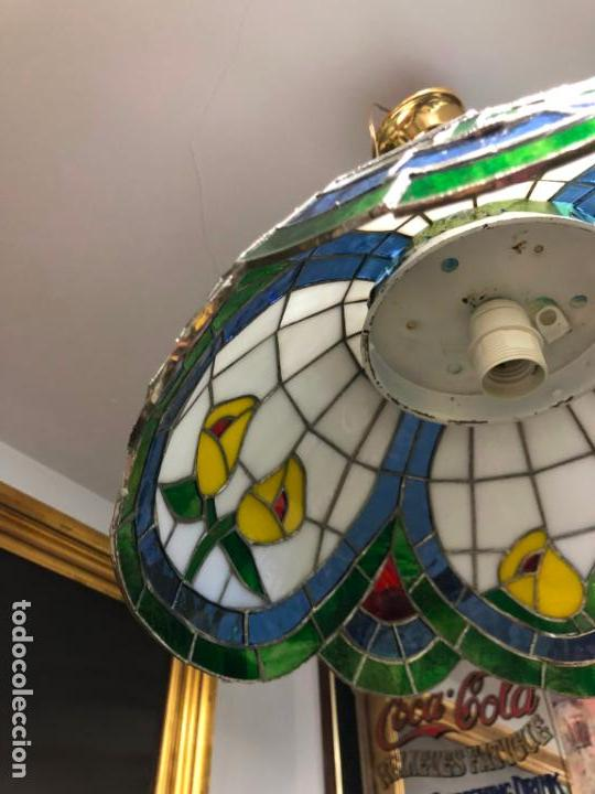 Vintage: PRECIOSA LAMPARA REALIZADA EN CRISTAL CON MEDIDAS 40X40 CM - VINTAGE - Foto 3 - 149991414