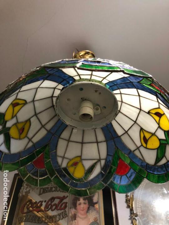 Vintage: PRECIOSA LAMPARA REALIZADA EN CRISTAL CON MEDIDAS 40X40 CM - VINTAGE - Foto 4 - 149991414