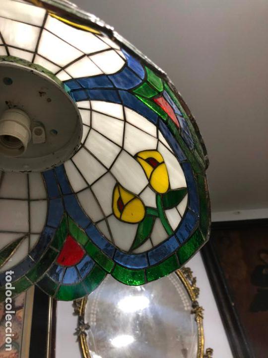Vintage: PRECIOSA LAMPARA REALIZADA EN CRISTAL CON MEDIDAS 40X40 CM - VINTAGE - Foto 5 - 149991414
