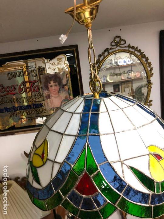 Vintage: PRECIOSA LAMPARA REALIZADA EN CRISTAL CON MEDIDAS 40X40 CM - VINTAGE - Foto 6 - 149991414