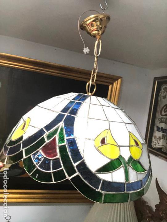 Vintage: PRECIOSA LAMPARA REALIZADA EN CRISTAL CON MEDIDAS 40X40 CM - VINTAGE - Foto 7 - 149991414