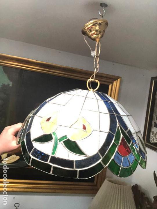 Vintage: PRECIOSA LAMPARA REALIZADA EN CRISTAL CON MEDIDAS 40X40 CM - VINTAGE - Foto 8 - 149991414