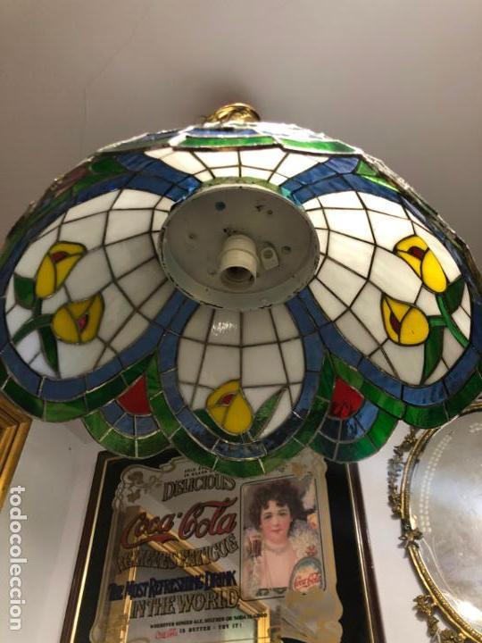 Vintage: PRECIOSA LAMPARA REALIZADA EN CRISTAL CON MEDIDAS 40X40 CM - VINTAGE - Foto 9 - 149991414